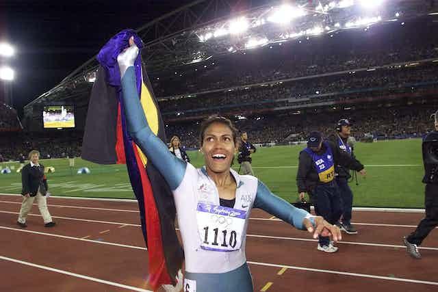 Indigenous athlete Cathy Freeman at Olympics