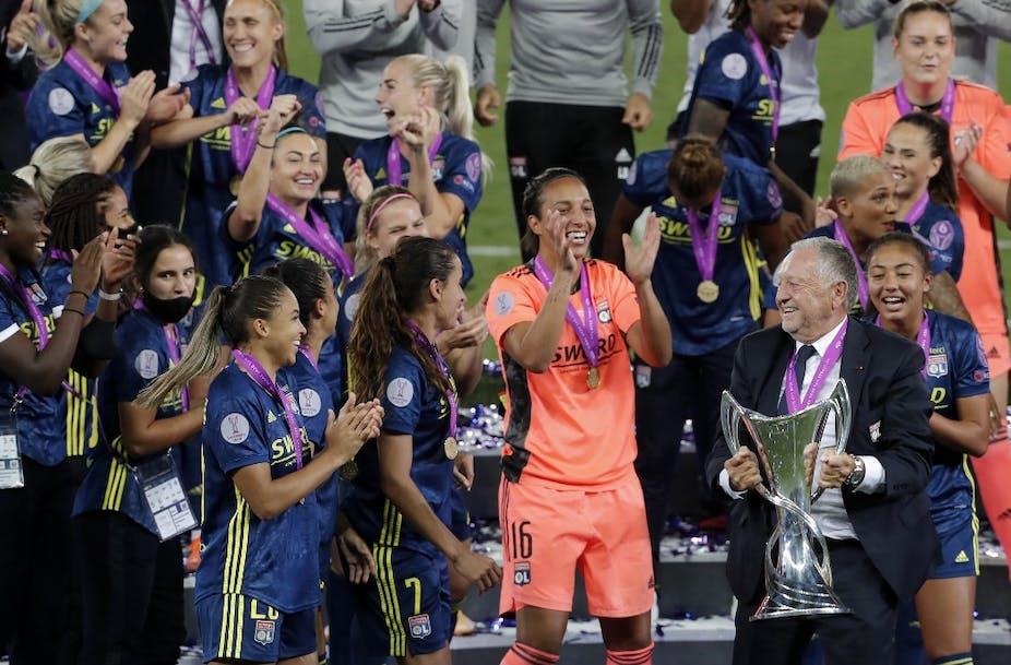 Victoire des Lyonnaises lors de la coupe UEFA