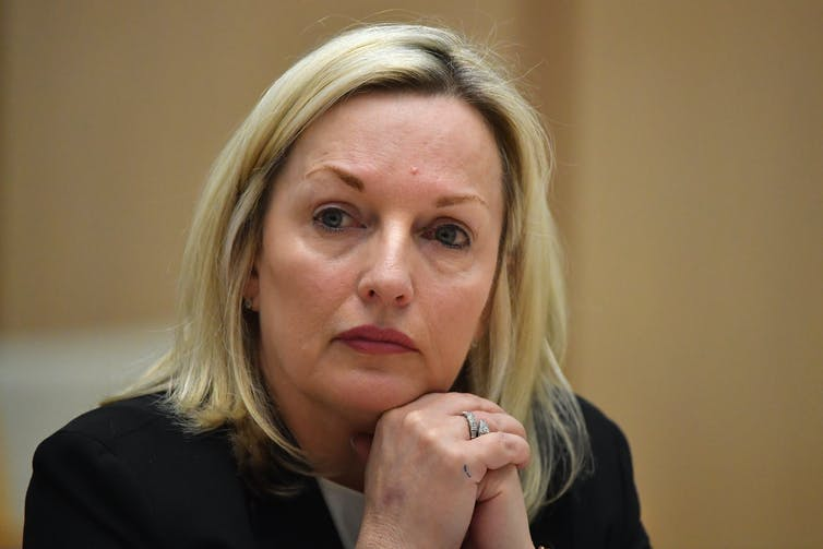 Australia Post CEO Christine Holgate at a Senate inquiry