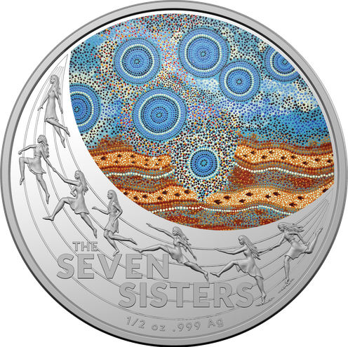 Decorative coin featuring Indigenous design.