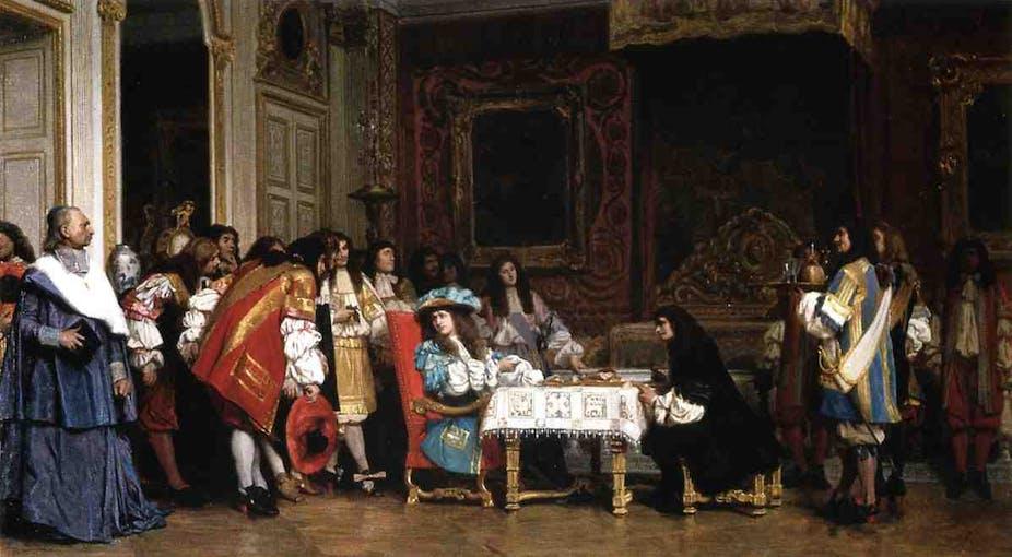 Molière reçu par Louis XIV