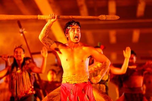 Māori warrior with taiaha
