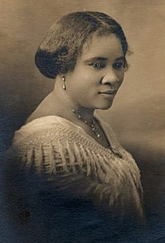 A historical photo of Madam C.J. Walker