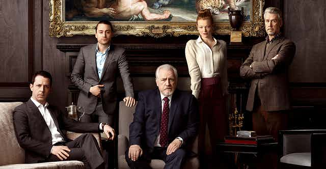 Promotional still, the Roy family of Succession