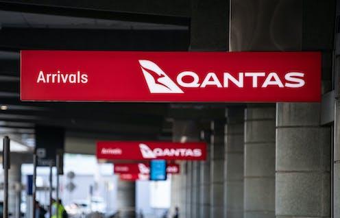 A QANTAS arrivals terminal