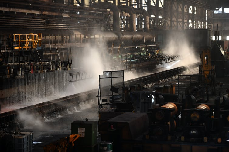 Interior of steelworks
