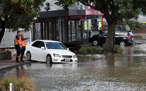 Flooding in a city