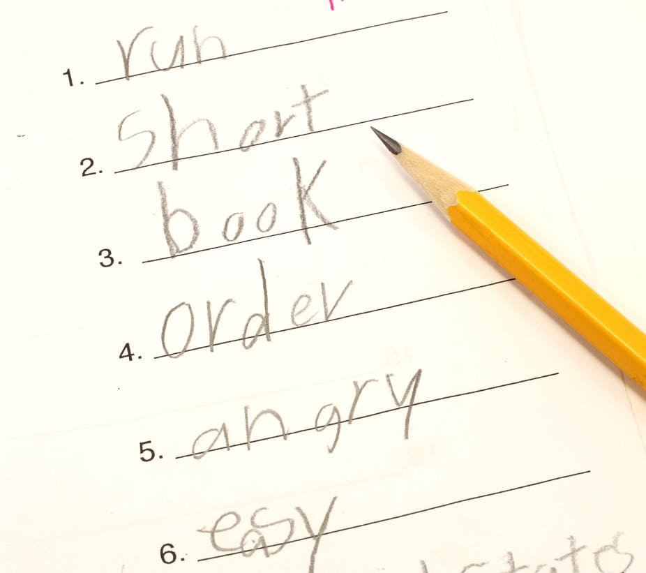 Why some kids can't spell and why spelling tests won't help
