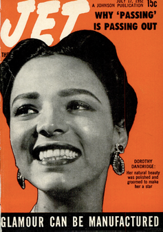 Cover of 'Jet' with a portrait of Dorothy Dandridge
