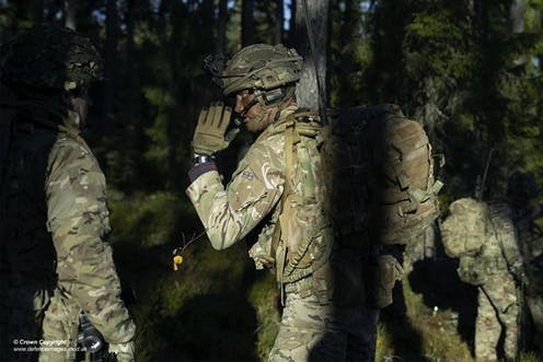 British Troops take part in a training exercise.