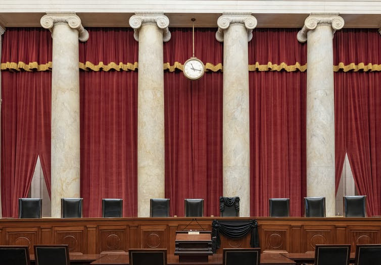 The U.S. Supreme Court chambers.