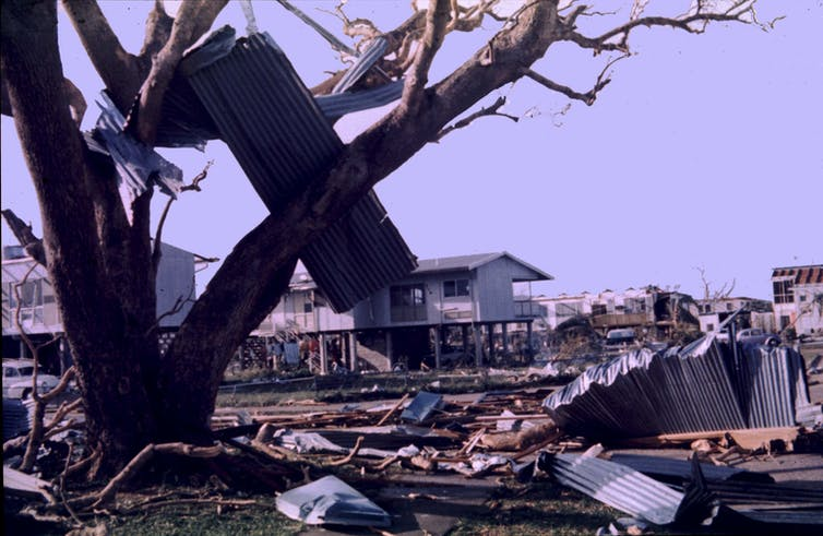 Debris in the aftermath of Cyclone Tracy