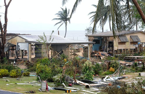 Damage from category five Tropical Cyclone Yasi, 2011