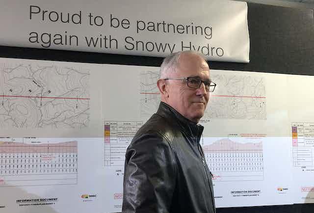Malcolm Turnbull, at Snowy Hydro