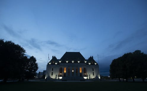 The Supreme Court of Canada at dusk