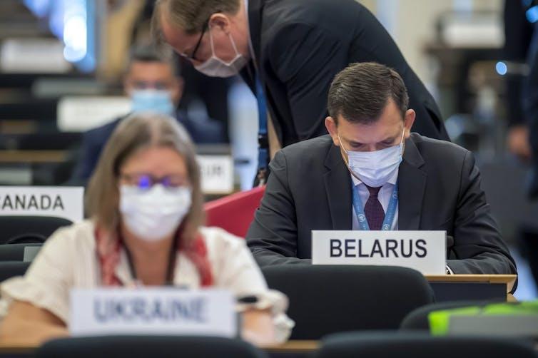Le chef de la délégation de la Biélorussie à l'ouverture de la 45e session du Conseil des droits de l'homme