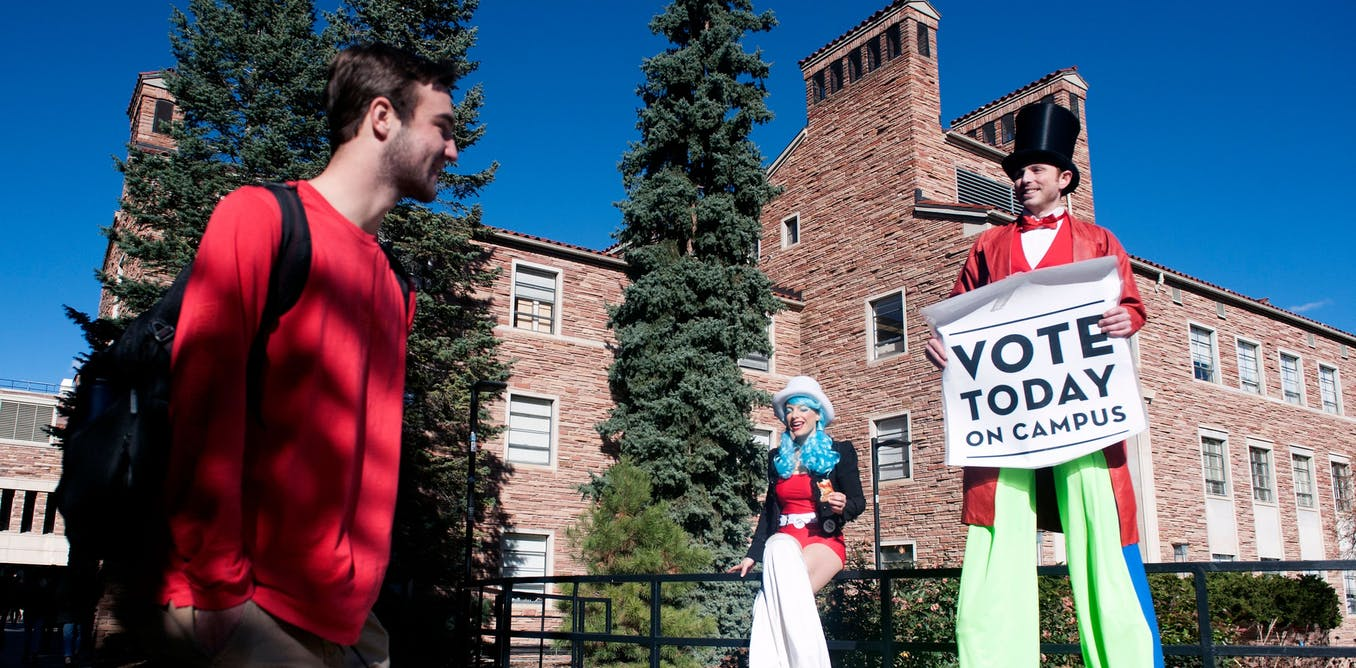 Want the youth vote? Some college students are still up for grabs in November