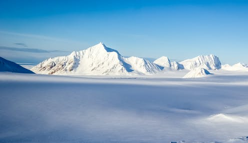 Large snowy mountains