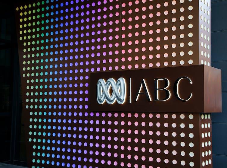 ABC logo against colourful light backdrop