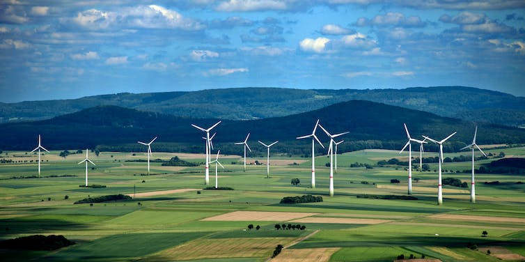 A wind farm in Germany