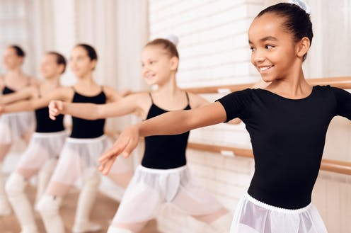 Picture of a children's ballet class