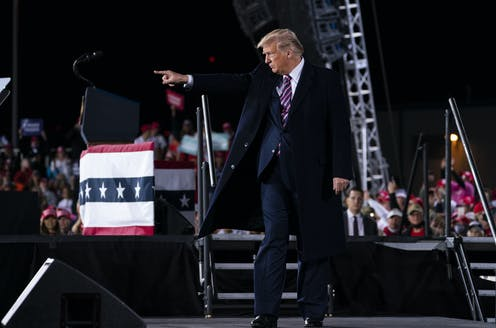 President Donald Trump at a campaign rally.