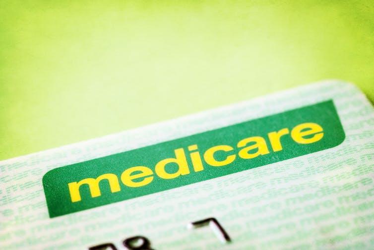 A medicare card