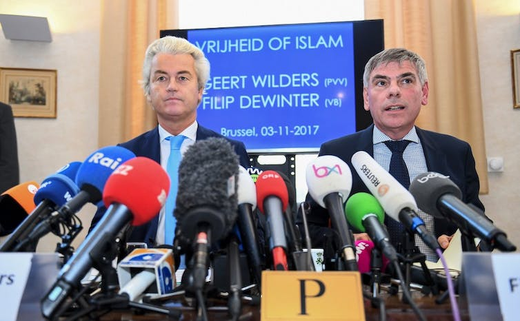 Geert Wilders et Filip Dewinter