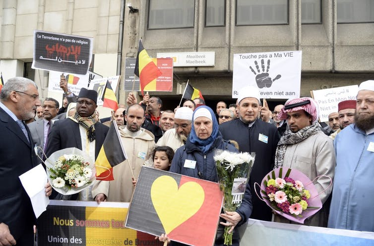 L'imam de Molenbeek cheik Mohamed Toujgani et des habitants de Molenbeek et Bruxelles après les attentats avril 2016