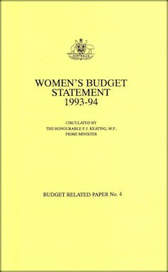 Women's Budget Statement 1993-94