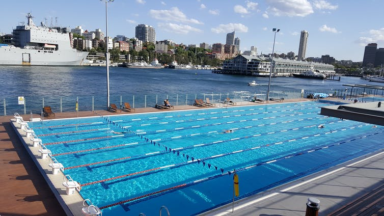 An outdoor pool in Sydney.