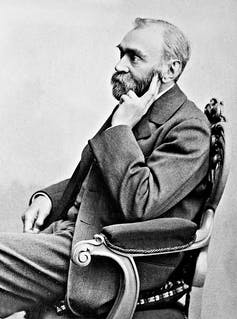 seated portrait of Nobel