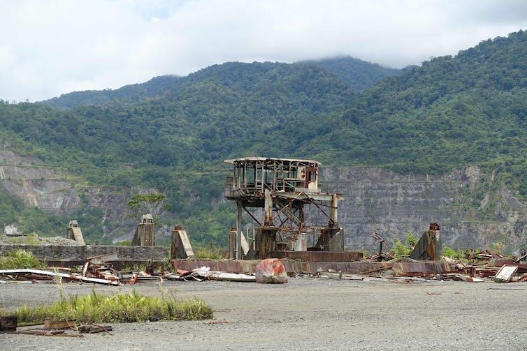 Abandoned mining infrastructure.