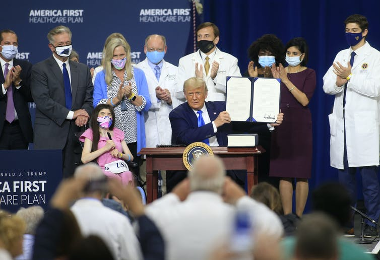 Trump health care executive order event