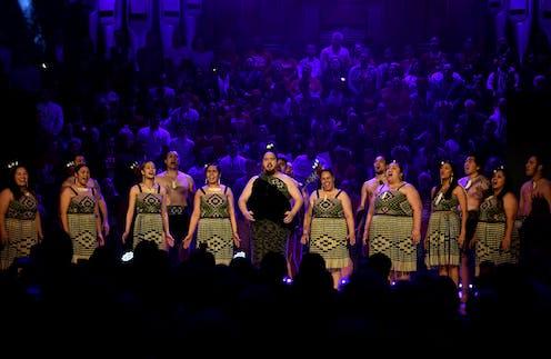 Maori group performing