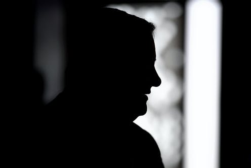 A silhouette of Anthony Albanese