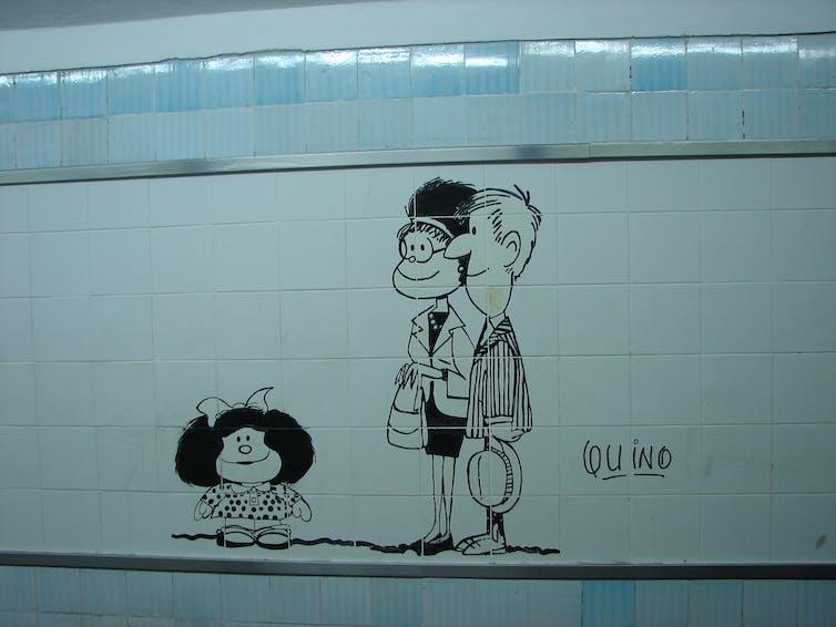 Mafalda in the Tube