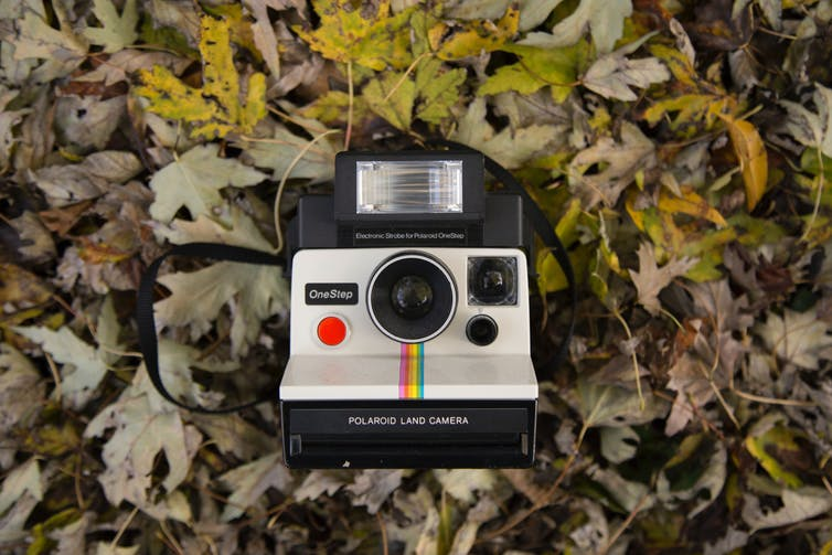 Old polaroid camera.