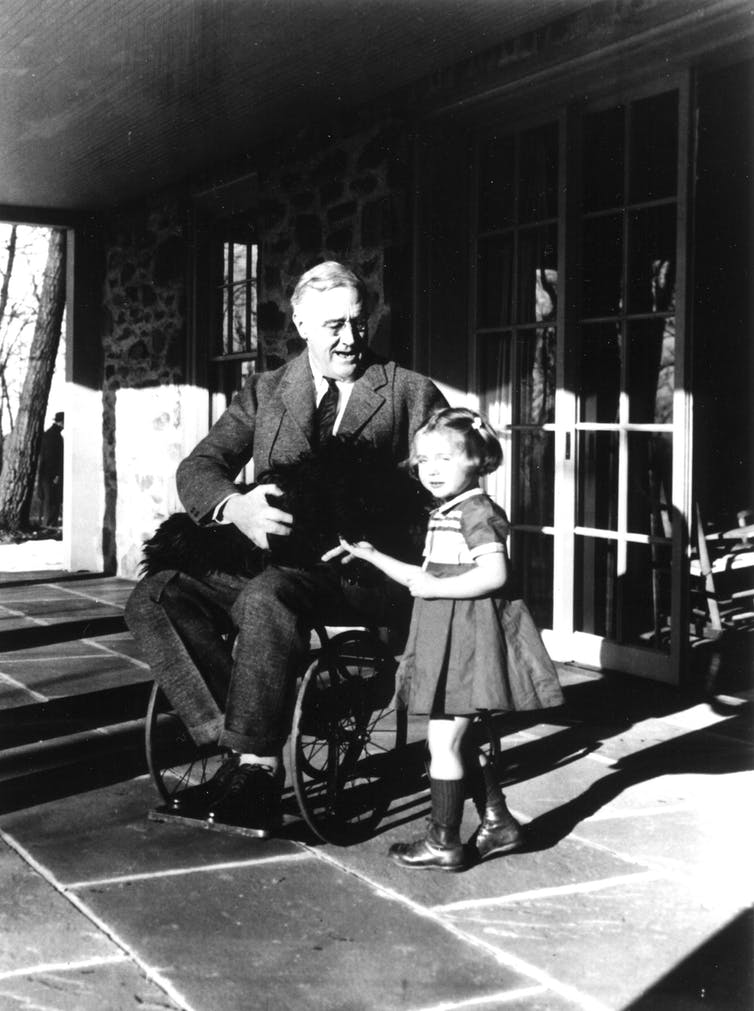 FDR in a wheelchair