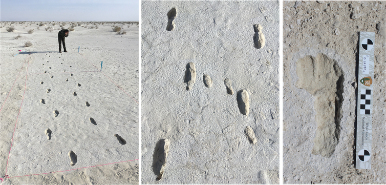 Photo showing the footprints.