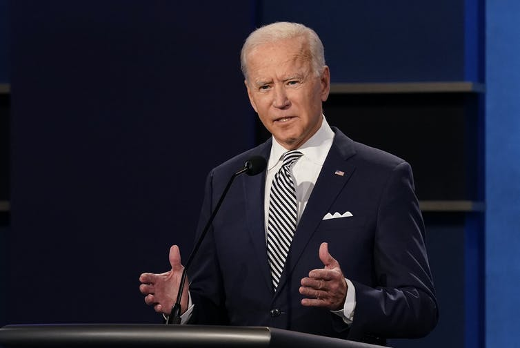Biden during the first presidential debate.