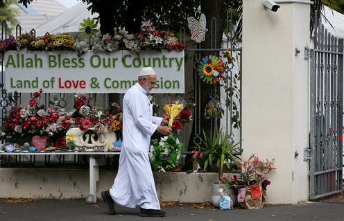 flowers at Al Noor mosque in Christchurch