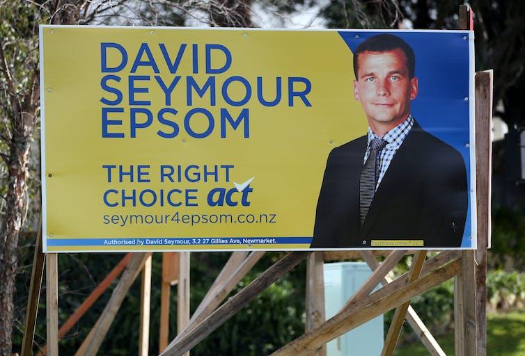 billboard advertising a politician