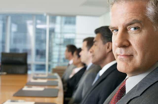 Board members in a meeting