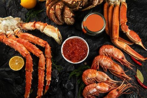 A platter of shellfish
