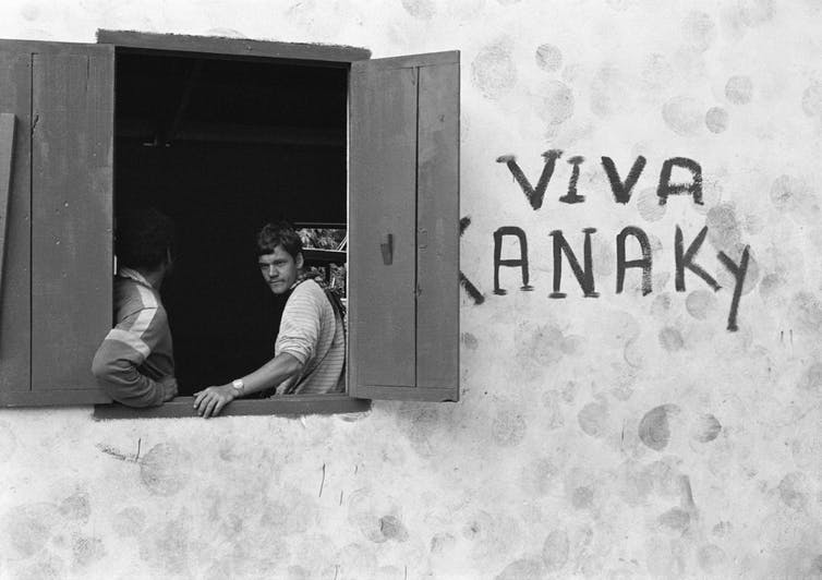 inscription portant la mention «Viva Kanaky»