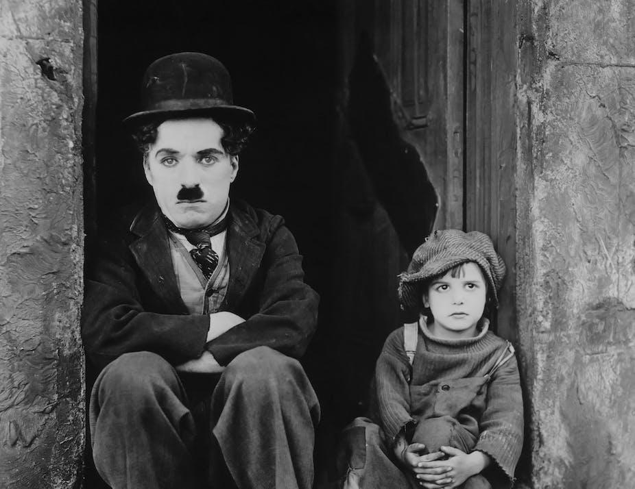 Charlie Chaplin in The Kid (1921).