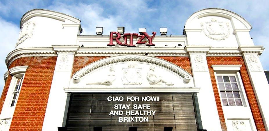 Exterior of Ritzy Cinema in Brixton.