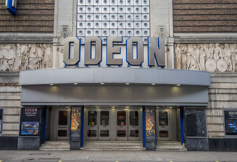 Outside of a Odeon cinema.