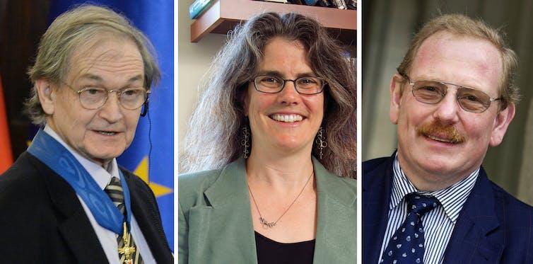 Roger Penrose, Andrea Ghez and Reinhard Genzel.